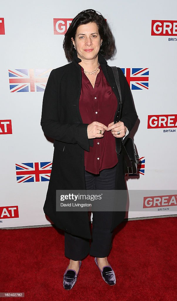 Set decorator Anna Pinnock attends the GREAT British Film Reception at the British Consul General's Residence on February 22, 2013 in Los Angeles, California.