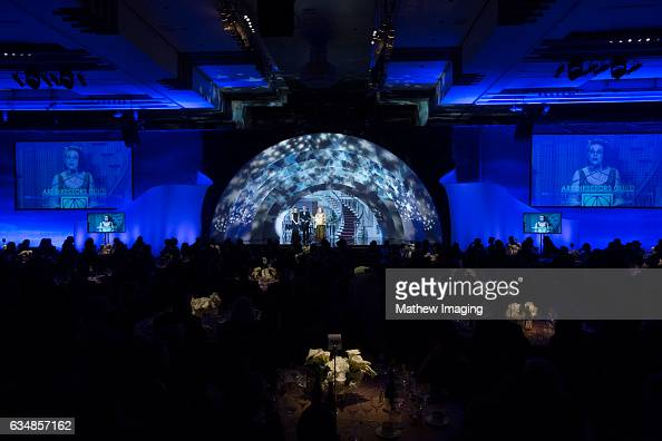 Set Decorator Cate Bangs accepts an award at the 21st Annual Art Directors Guild Excellence In Production Design Awards at The Ray Dolby Ballroom at...