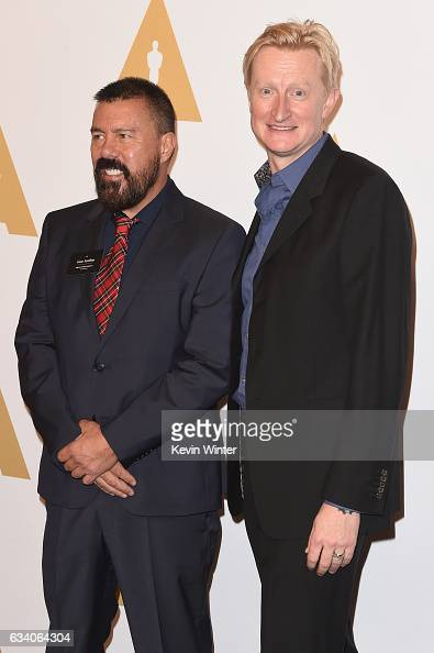 Set decorator Gene Serdena and Production Designer Guy Hendrix Dyas attend the 89th Annual Academy Awards Nominee Luncheon at The Beverly Hilton...