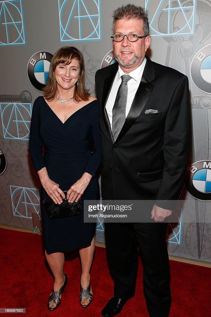 Set Decorator Summer Eubanks (L) and Production Designer John D. Kretschmer attend the 17th Annual Art Directors Guild Awards For Excellence In Production Design at The Beverly Hilton Hotel on February 2, 2013 in Beverly Hills, California.