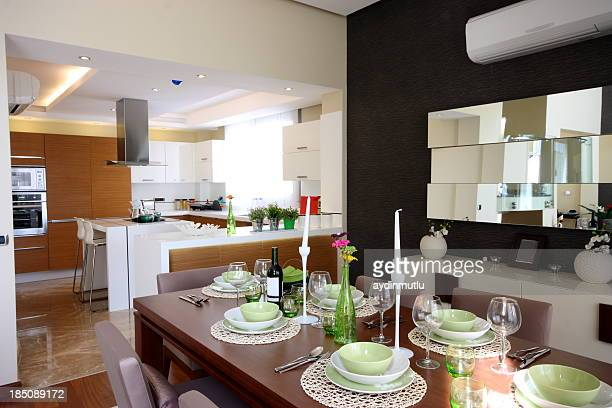 Modern china family and household stock photos and for Dining room next to kitchen