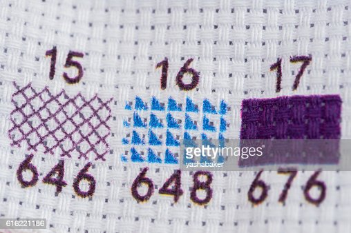 Set for embroidery by pattern with digits : Photo