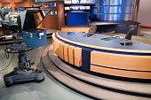 Set for newsroom filming