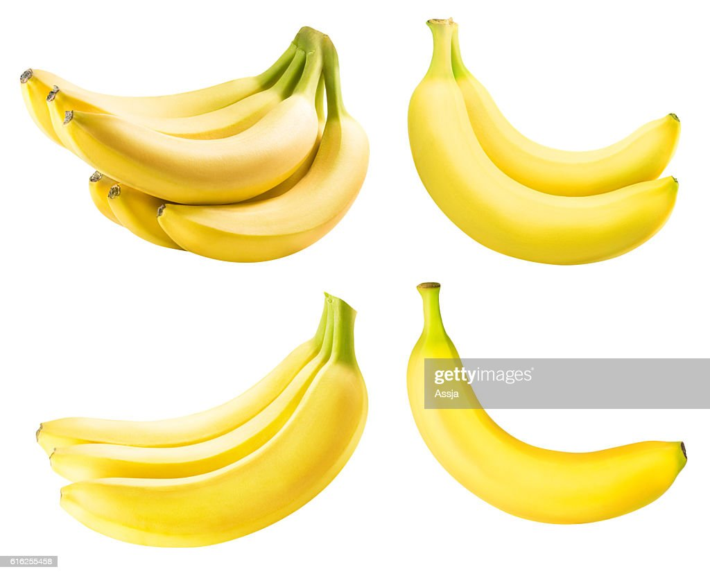Set from bananas isolated on white background : Foto de stock