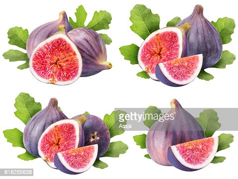 Set from figs isolated on white background : Foto de stock