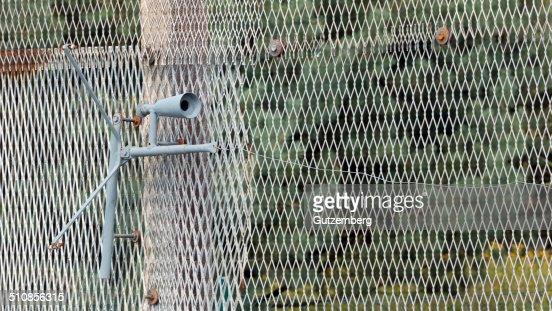 Set Gun at the former inner German border : Stock Photo