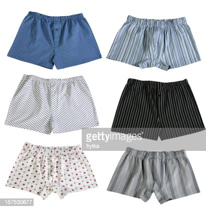 Set of 6 pairs of men's boxer shorts isolated on white