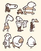 Set of a funny creatures #2