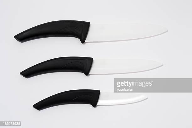 Satz von Keramik Küche Knifes