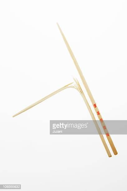 Set of chopsticks one is broken