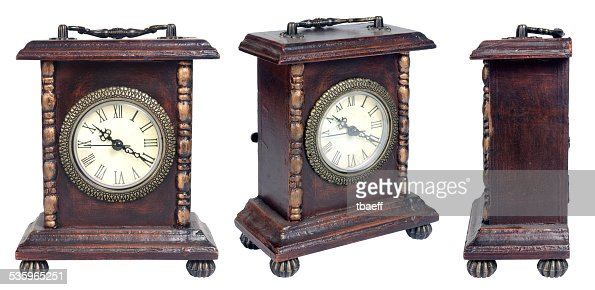 set of clock. isolated on white background. : Stock Photo