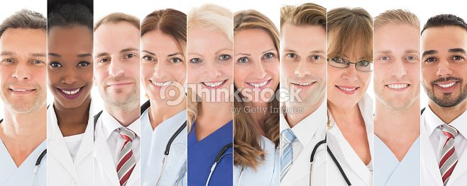 Set Of Doctors : Stock Photo