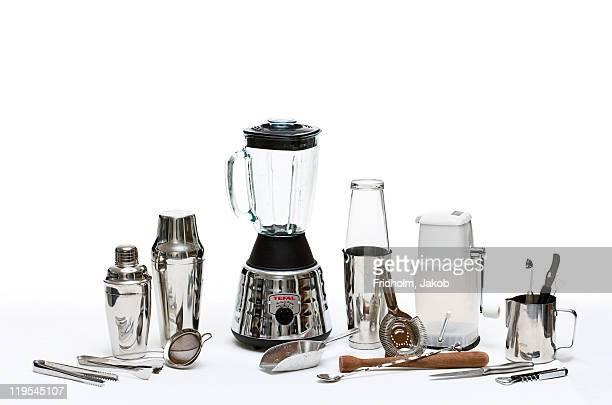 Set of drinks utensils