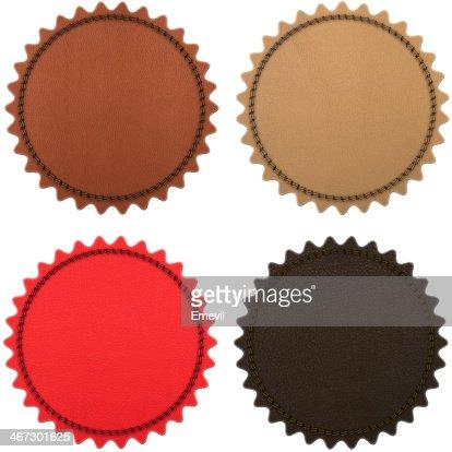 Set of four leather stripes : Stock Photo