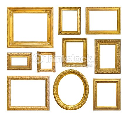 Set Of Golden Vintage Frame Stock Photo | Thinkstock