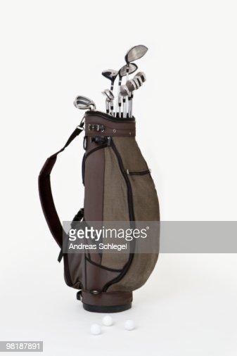 A set of golf clubs