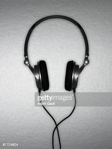 A set of headphones : Stock Photo