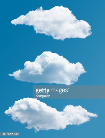 set of isolated picturesque clouds : Stock Photo