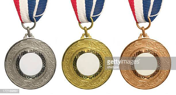Set of medals – Gold, Silver and Bronze