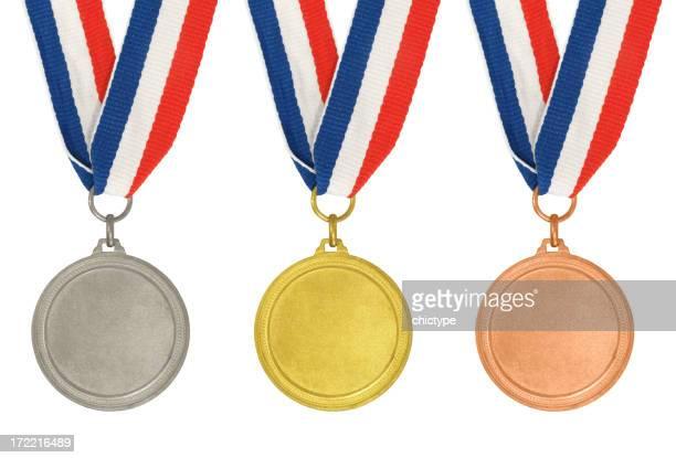 のメダル–ゴールド、シルバー、ブロンズ