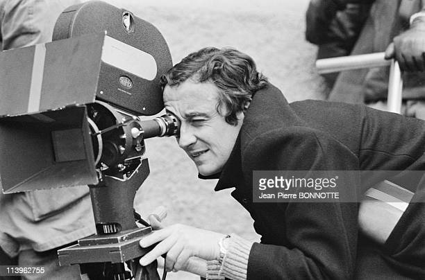 Set of the Movie Spirits of the Dead In France in March 1967French actor Alain Delon with director Louis Malle on the set of the movie 'Spirits of...