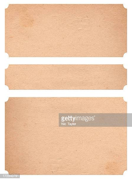 A set of three large paper bandages