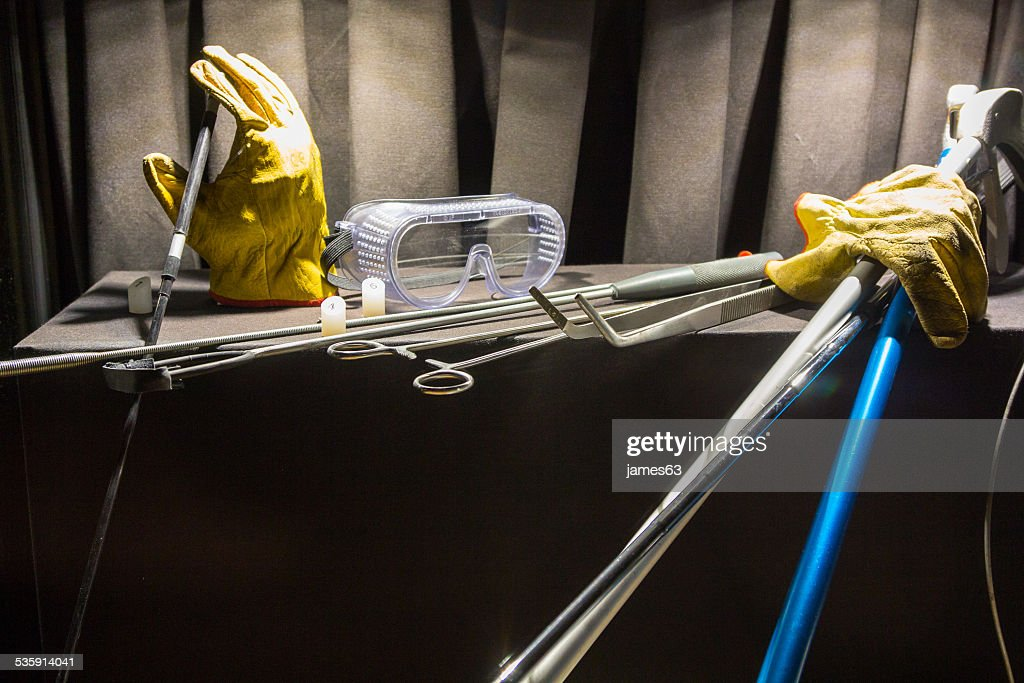 set of tools for capturing snakes : Stock Photo