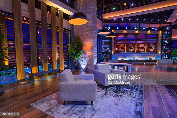 Set of TV host/comedian Chelsea Handler talk show 'Chelsea' is photographed for USA Today on May 2 2016 in Culver City California PUBLISHED IMAGE
