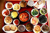 Set of typical dietary,korea food
