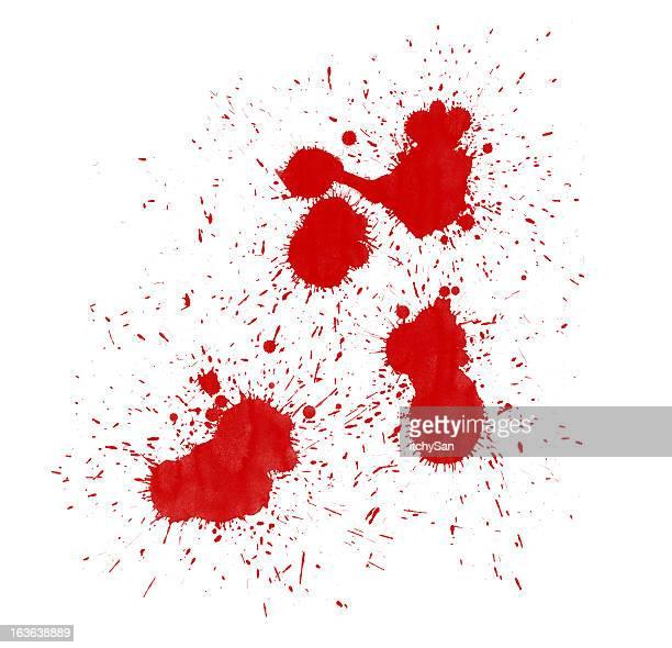 Conjunto de varias splatters sangre