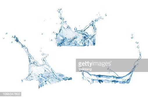 Set of water splashes collection : Foto de stock