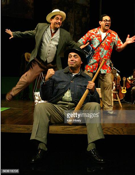 Set up scenes from the new satire Chavez Ravine from leading Chicano comedy troupe Culture Clash at Mark Taper Forum May 11 2003 Photo of seated...