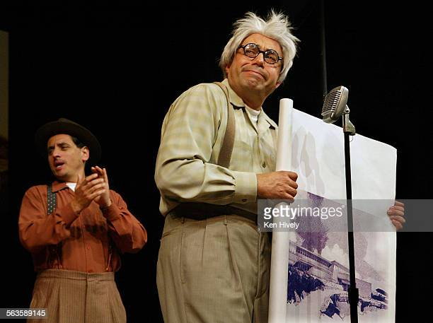 Set up scenes from the new satire from leading Chicano comedy troupe Culture Clash at Mark Taper Forum May 11 2003 Photo l–r are Richard Montoya and...