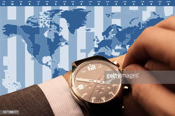 Defina o seu tempo [ América do Norte azul ]