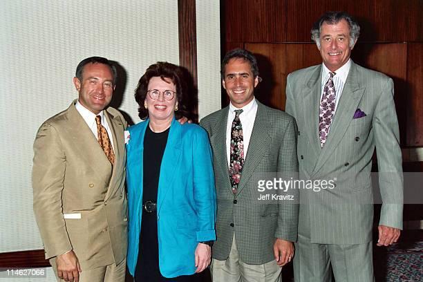 Seth Abraham Billie Jean King Ross Greenberg and Frank DeFord