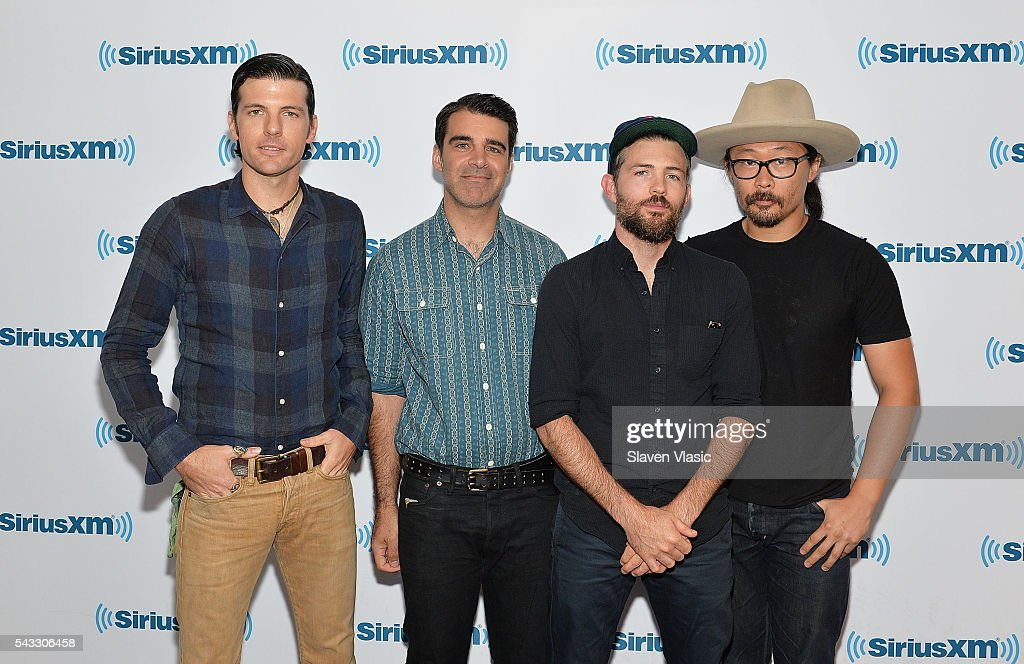 <a gi-track='captionPersonalityLinkClicked' href=/galleries/search?phrase=Seth+Avett&family=editorial&specificpeople=4271007 ng-click='$event.stopPropagation()'>Seth Avett</a>, Bob Crawford, <a gi-track='captionPersonalityLinkClicked' href=/galleries/search?phrase=Scott+Avett&family=editorial&specificpeople=4271008 ng-click='$event.stopPropagation()'>Scott Avett</a> and Joe Kwon of folk rock band The Avett Brothers visit SiriusXM Studios on June 27, 2016 in New York City.