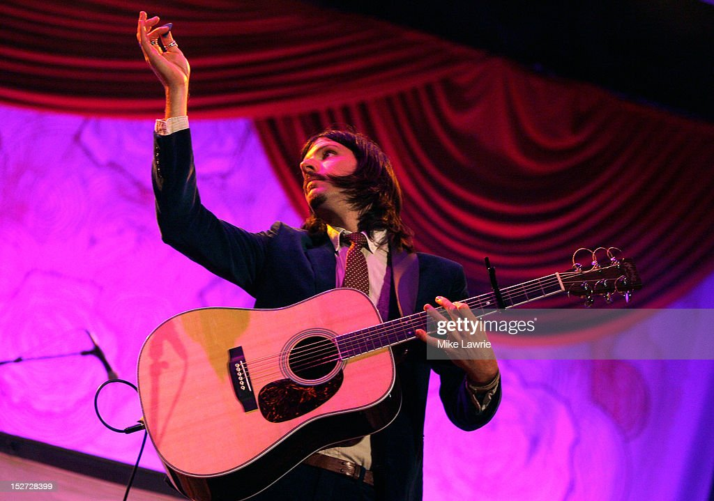 Seth Avett of the Avett Brothers performs at SummerStage at Rumsey Playfield, Central Park on September 24, 2012 in New York City.