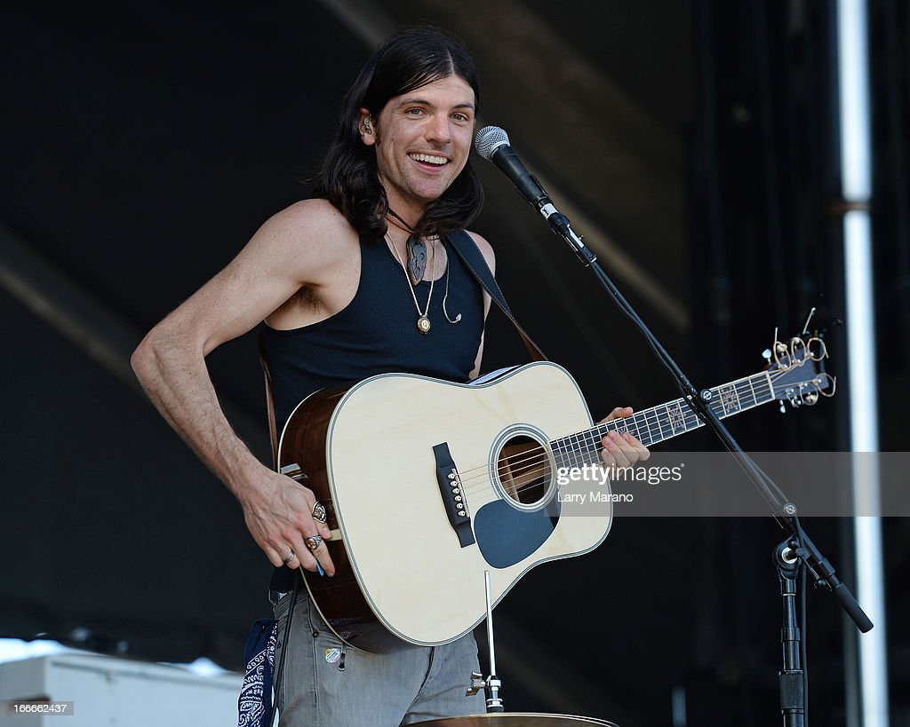 Seth Avett of The Avett Brothers performs during the Rock The Oceans Tortuga Festival on April 14, 2013 in Fort Lauderdale, Florida.