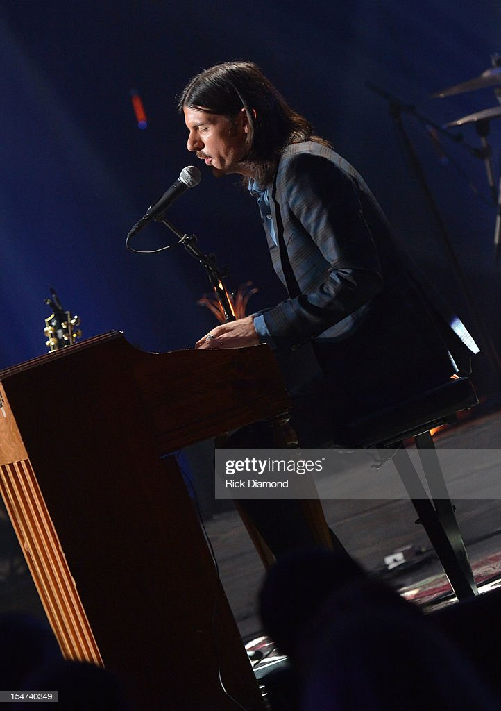 Seth Avett performs during CMT Crossroads: The Avett Brothers And Randy Travis tape at The Factory, Liberty Hall in Franklin, Tennessee on October 24, 2012 The Avett Brothers And Randy Travis airs only on CMT November 23rd 2012