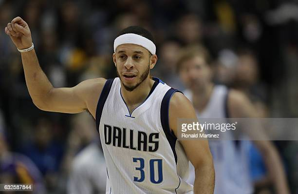 Seth Curry of the Dallas Mavericks at American Airlines Center on January 22 2017 in Dallas Texas NOTE TO USER User expressly acknowledges and agrees...