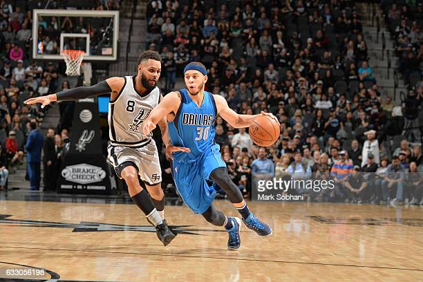 Seth Curry of the Dallas Mavericks handles the ball against the San Antonio Spurs on January 29 2017 at the ATT Center in San Antonio Texas NOTE TO...