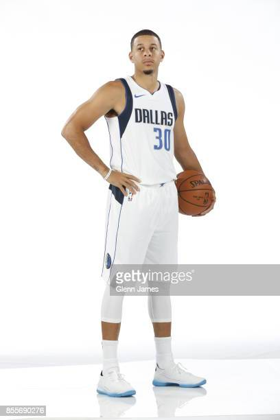 Seth Curry of the Dallas Mavericks poses for a portrait during the Dallas Mavericks Media Day on September 25 2017 at the American Airlines Center in...