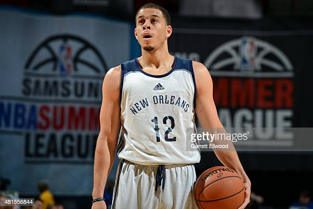 Seth Curry of the New Orleans Pelicans attempts a free throw against the Phoenix Suns on July 19 2015 at the Thomas Mack Center in Las Vegas Nevada...