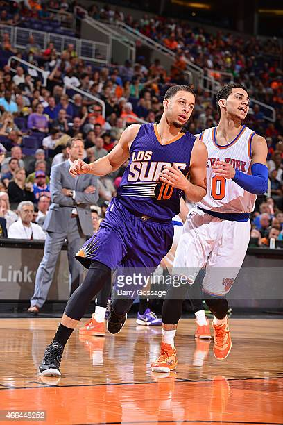 Seth Curry of the Phoenix Suns during the game against the New York Knicks on March 15 2015 at US Airways Center in Phoenix Arizona NOTE TO USER User...