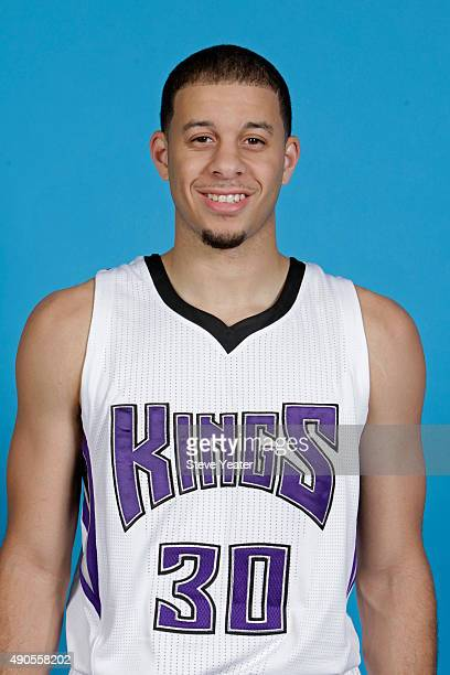 Seth Curry of the Sacramento Kings poses for a head shot on media day September 28 2015 at the Kings practice facility in Sacramento California NOTE...