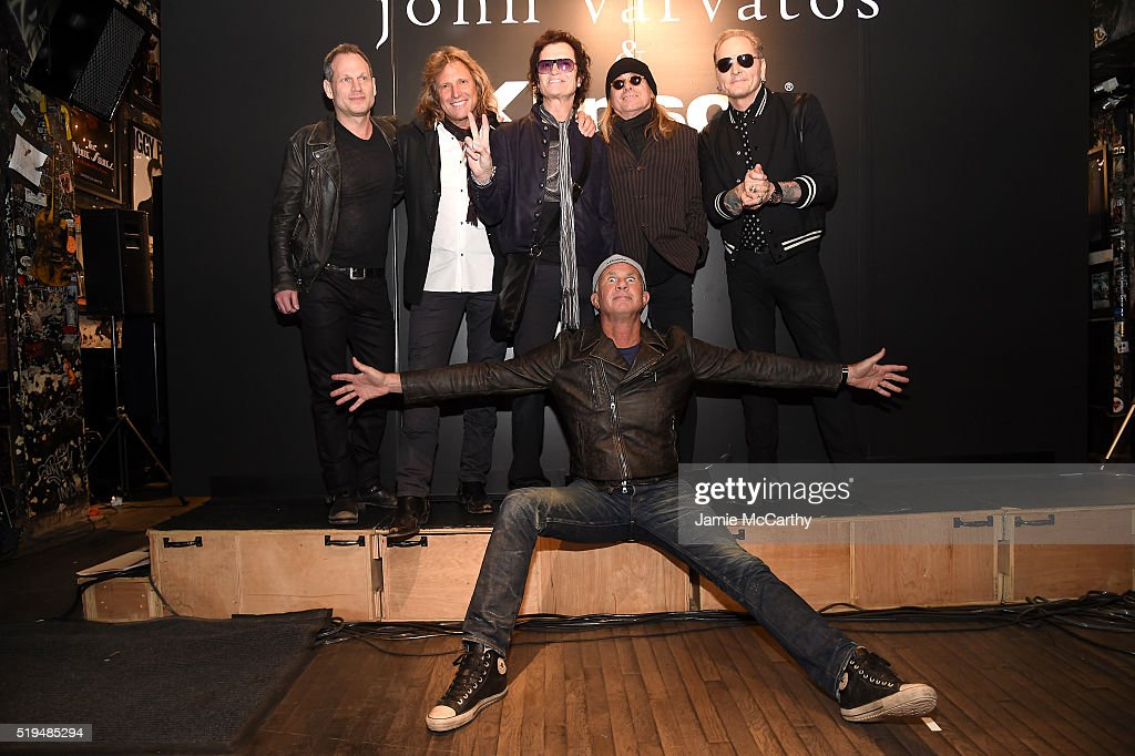 Seth Frank, Rob Affuso, Glen Hughes, Robin Zander, Chad Smith and Matt Sorum attend an intimate inductee conversation hosted By John Varvatos, presented by Klipsch Audio on April 6, 2016 in New York City.