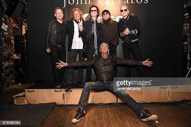 Seth Frank Rob Affuso Glen Hughes Robin Zander Chad Smith and Matt Sorum attend an intimate inductee conversation hosted By John Varvatos presented...