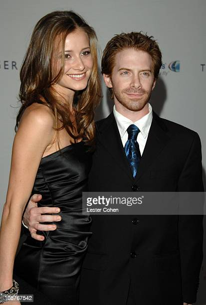 Seth Green and Candace Bailey during 14th Annual Race to Erase MS Themed 'Dance to Erase MS' Red Carpet at Hyatt Regency Century Plaza in Century...