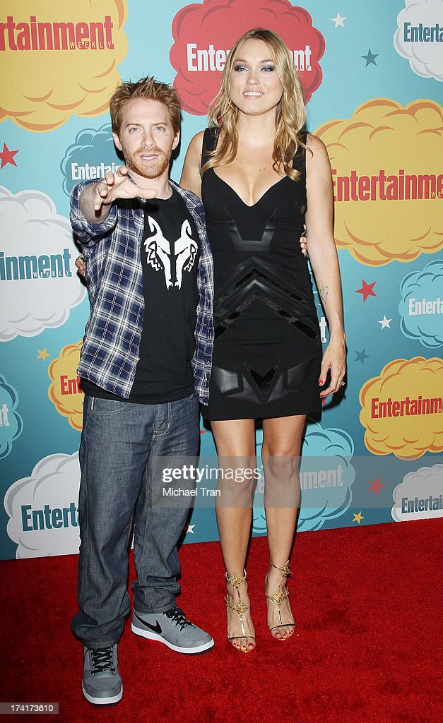 Seth Green (L) and Clare Grant arrive at the Entertainment Weekly's Annual Comic-Con celebration held at Float at Hard Rock Hotel San Diego on July 20, 2013 in San Diego, California.