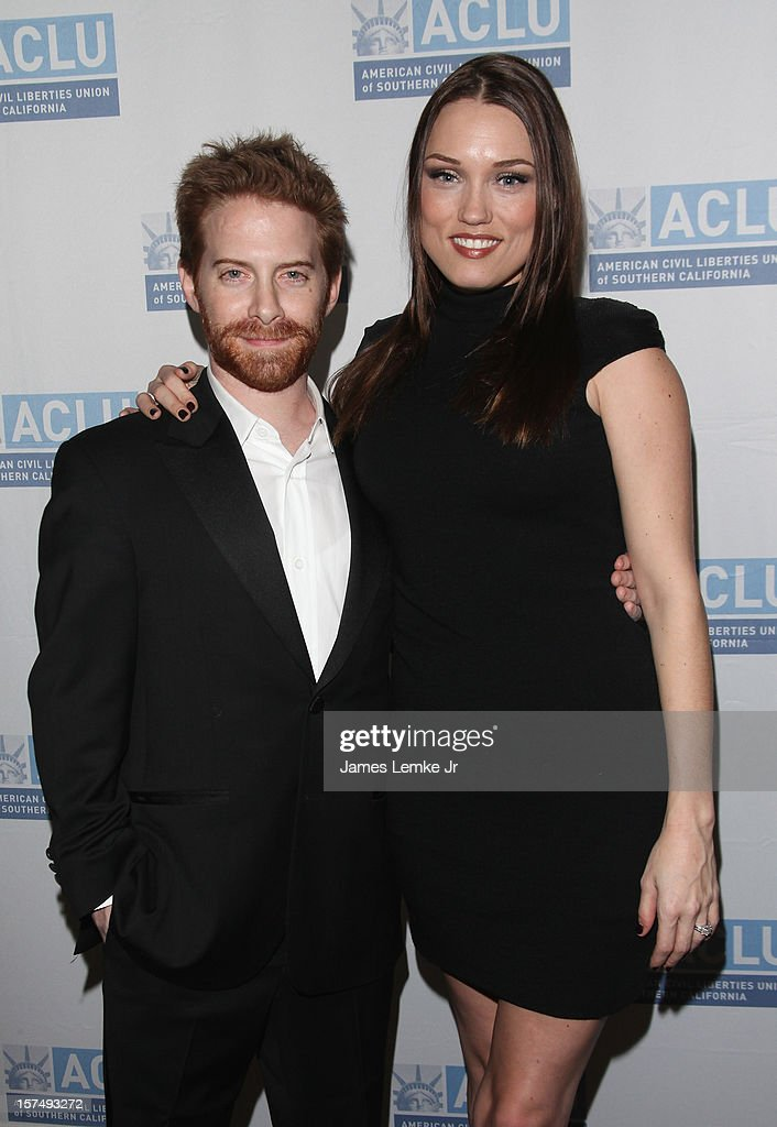 Seth Green and Clare Grant attend the ACLU of Southern California's 2012 Bill of Rights Dinner held at the Beverly Wilshire Four Seasons Hotel on December 3, 2012 in Beverly Hills, California.